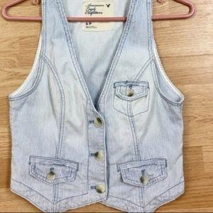 XS American Eagle Jean Vest